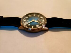 Skyraider 2 Titanium Teal Pilot Watch, Swiss Movement, Sapphire, 1 of 75, Zelos