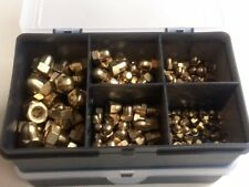 Brass Dome Nuts M3, M4, M5, M6, M8, Assorted Kit / Box 170 pcs