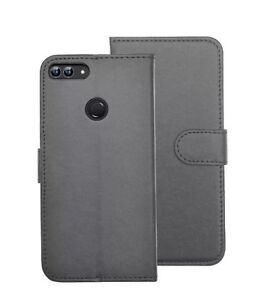 Case For Huawei P Smart Luxury Leather Magnetic Flip Wallet Stand Premium Cover