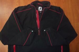 FootJoy DryJoys Tour Collection Waterproof Windproof Golf Jacket Black/Red XXL