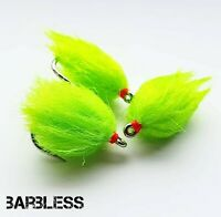 Fly Fishing  Bung Set of 3 Barbless Neon// MX-D Fruit Salad Blobs Size 10