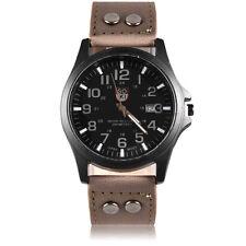Fashion Men's Casio Sub-brand Stainless Steel Leather Quartz Analog Wrist Watch