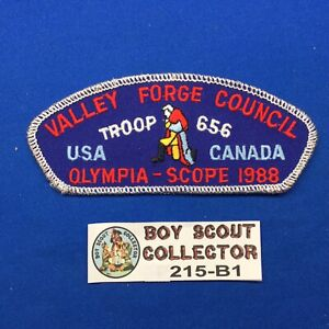 Boy Scout CSP 1988 Valley Forge Council Olympia-Scope USA Canada Shoulder Patch