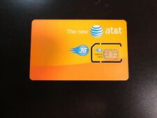 New At&T 3G Standard 2Ff Mini Sim Card Prepaid Or Postpaid Activation Ready