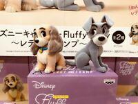 Disney Fluffy Puffy Lady & Trump Figure Set Doggie story From Japan