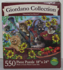 Karmin Giordano Collection WATERING CAN KITTENS flowers Cats 550+ Piece Puzzle