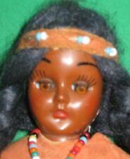 VINTAGE NATIVE AMERICAN SOUVENIR DOLL -INDIAN-7 1/2""