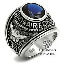 USAF Airforce Military Men's Ring Stainless Steel United States Size 12