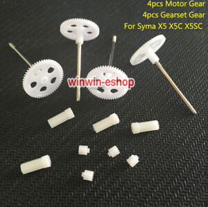 Main Gear wheel + 9T Small Gear for Syma X5 X5C X5SC RC Drone Quadcopter Teile