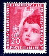 REGNO 1937 - COLONIE ESTIVE Cent. 20  NUOVO **