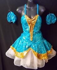 NEW!   EXQUISITE PEACOCK SEQUINS DANCE BALLET COSTUME ~ MEDIUM ADULT