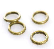 500 Anneaux de jonction Perles Cercles Fermé Bronze 6mm Dia.B22037
