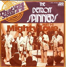 7inch DETROIT SPINNERS mighty love GERMAN 1974 EX+ +PS WHITE LABEL PROMO