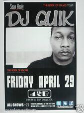 DJ QUIK  SAN DIEGO CONCERT TOUR POSTER