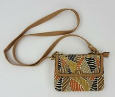 Relic Brand Collection Purse Wallet Shoulder  Crossbody Flap Zip Palms Canvas