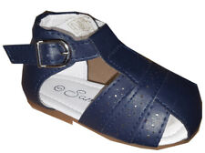 NEW Baby & Boys Samli Spanish Style Romany Traditional Navy Blue Buckle Sandals