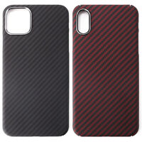 Carbon Fiber Matte Full Coverage Phone Case Cover For iPhone 11 Pro Max XR XS