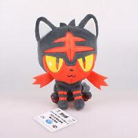 "7"" 18Cm Banpresto Litten Pokemon Plush Toys Soft Stuffed Mascot Animal Doll"