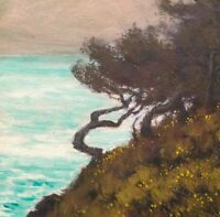 California Carmel Point Lobos Ocean Landscape Art Oil Painting Impressionism New