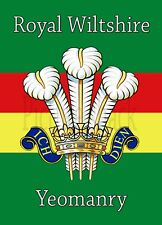ROYAL WILTSHIRE YEOMANRY CAP BADGE PRINTED ON A METAL SIGN 5 x 7 INCHES.