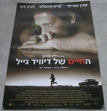 """THE LIFE OF DAVID GALE Original ISRAEL Movie Poster 2003 27""""X38"""" KEVIN SPACEY"""