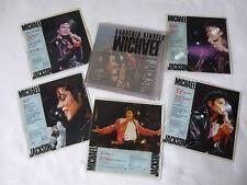 """MICHAEL JACKSON ~ SOUVENIR SINGLES PACK ~ LTD ED' UK 7"""" VINYL PICTURE DISKS"""