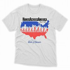 Hands Across America Mens T-Shirt Us Movie Tee NEW