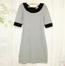 Orsay Stretch Mini Etui Strickkleid Jersey Kleid Schwarz Weiß M 36 38