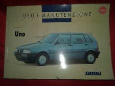 Fiat Uno 1993 - Manuale uso e manutenzione ORIGINALE