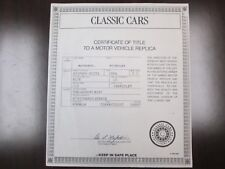 Danbury Mint Paperwork 1934 Hispano-Suiza J12 Cabriolet