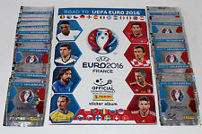 Panini ROAD TO UEFA EURO 2016 France STICKER – 50 TÜTEN PACKETS sobres + ALBUM