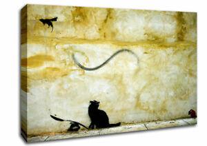 Bird Catcher Banksy 03135 Canvas Print Wall Art