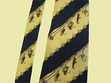 Fly Fishing Lures and Poles Tommy Hilfiger Kaufmann's Italian Silk Tie USA