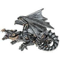 FABULOUS GOTHIC STEAMPUNK DRAGON FIGURINE LYING ORNAMENT DRAGONS NEW & BOXED