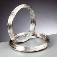 0.5 mm (24 gauge) Silver Plated Craft/Jewellery/Florist Wire Non Tarnish 12m
