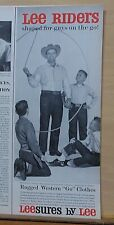 1959 magazine ad for Lee Riders Jeans - Brad Douthitt Champion Rope Spinner