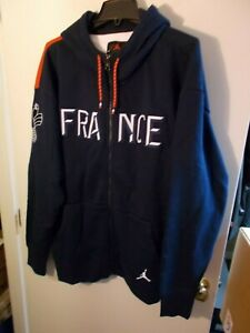 NWT Mens XXL Nike Jordan France National Team Full-Zip Hoodie New CT2189-419