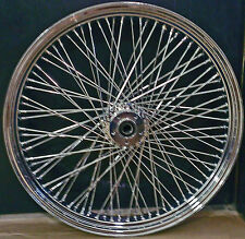 "80 SPOKE 26"" BIG WHEEL FRONT CHROME 26 X 3.5 HARLEY FLHR ROAD KING 2000-2007"