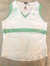 Adidas  Clima365 Womens White Tank Top Size Medium Athletic Shirt
