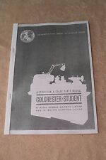 Colchester Student Round Head Lathe Manual.