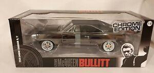 1/18 Greenlight Bullitt 1968 Dodge Charger R/T Chrome Edition New