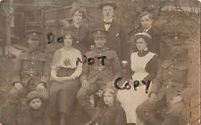 soldier group Royal Sussex Regiment with host family ? in billet ?