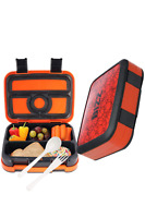 Bizz Bento Box Leakproof Meal Prep Lunchbox Reusable Fork-Spoon Basketball New
