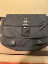 Vtg Tommy Hilfiger Messenger Shoulder Bag Laptop Computer Black Nylon