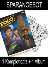 Topps - Star Wars - SOLO - Sammelsticker - Komplettsatz + Album
