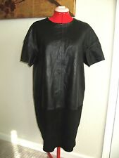 Black Leather / suede Cocoon Dress 8