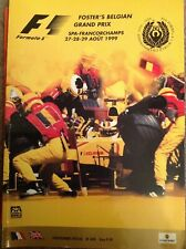 BELGIAN GRAND PRIX FORMULA ONE F1 1999 SPA FRANCORCHAMPS Official Programme