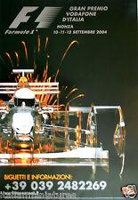 F1 MONZA CAMPARI ITALIANO Grand Prix 2004 Barrichello POSTER ORIGINALE 96cm 66cm