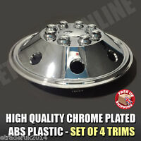 "16"" Inch Chrome Van Wheel Trims Motorhome RV Hub Caps X 4 Domed Curved Trim Caps"