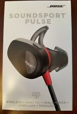 NEW Bose SoundSport Pulse Wireless Headphones Power Red w/ Heartrate Monitor NFC